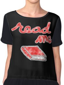 Read Me in Red Chiffon Top