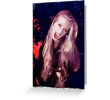 Vamp of the Night Greeting Card