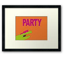 Lee's PARTY gator - Gravity Falls Framed Print