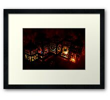 Stained Glass Mosaic Lanterns - Print Framed Print