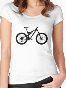 Mountain Bike Bicycle Women's Fitted Scoop T-Shirt