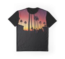 Downtown La Jolla Sunset Graphic T-Shirt