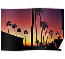 Downtown La Jolla Sunset Poster