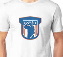 Miilitary Serviceman Salute Side Crest Unisex T-Shirt
