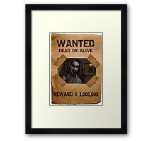 Buffy The First Slayer Wanted Framed Print