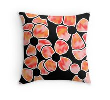 Shadows - Red and Orange Throw Pillow