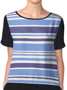 "Natural ""Mare"" stripes Collection. Original Design Art Chiffon Top"