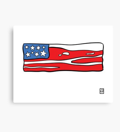 Bacon Flag Canvas Print