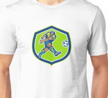 Soccer Football Player Kicking Ball Retro Unisex T-Shirt