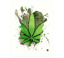 Weed Leaf Art Print