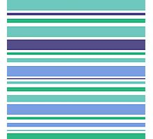"Natural ""Emerald"" stripes Collection. Original Design Art Photographic Print"