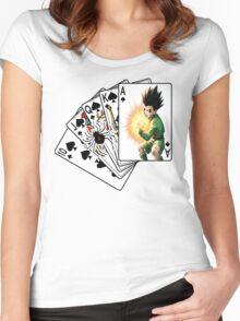 hunter x hunter gon Women's Fitted Scoop T-Shirt