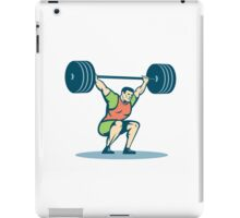 Weightlifter Lifting Barbell Retro iPad Case/Skin