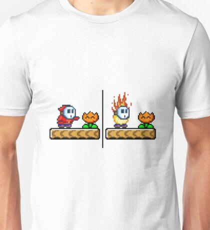 Fire Flower Shy Guy Unisex T-Shirt
