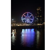 Ferris Wheel Colour Reflections Photographic Print