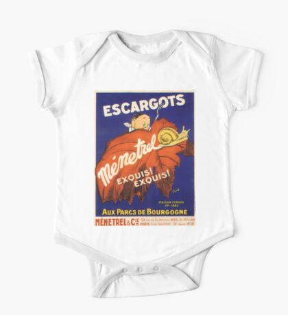 Vintage poster - Escargots One Piece - Short Sleeve
