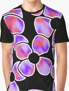 Shadow Flowers - Red and Purple Graphic T-Shirt