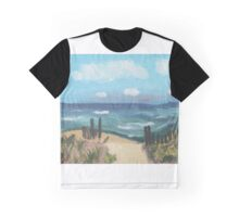 Beach Scene Graphic T-Shirt