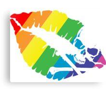 rainbow lips Canvas Print