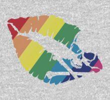rainbow lips Baby Tee
