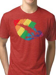 rainbow lips Tri-blend T-Shirt