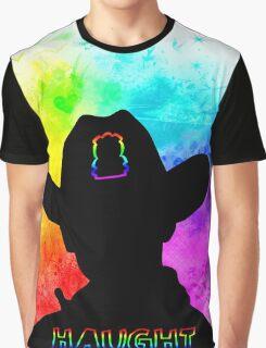 Haught - Rainbow Splash Graphic T-Shirt