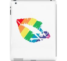 rainbow lips iPad Case/Skin