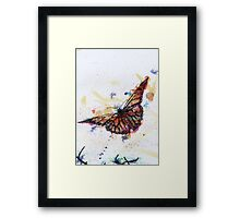 Scribble Ink Butterfly Framed Print