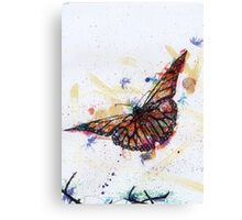 Scribble Ink Butterfly Canvas Print