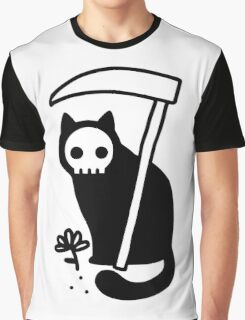 Grim Kitty Graphic T-Shirt