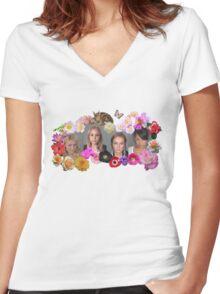 Princesses mugshots Women's Fitted V-Neck T-Shirt