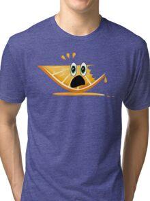 Funny Cartoon Orange Slice Shirt Tri-blend T-Shirt