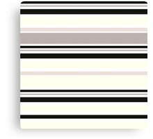 "Retro ""Stripes"" collection: Black and White Canvas Print"