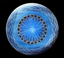 Mandala : Blue Torus  by danita clark