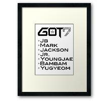 GOT7 Framed Print