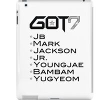 GOT7 iPad Case/Skin