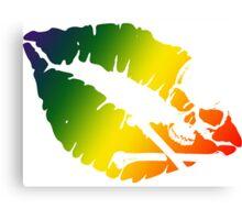 rainbow kiss Canvas Print