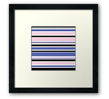 "Retro ""stripes"" dreamy summer 2016 collection: blue, pink, black Framed Print"