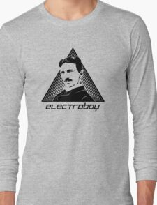 Tesla Electric Boys live below Long Sleeve T-Shirt