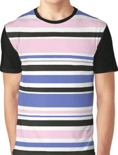 """Retro """"stripes"""" dreamy summer 2016 collection: blue, pink, black Graphic T-Shirt"""