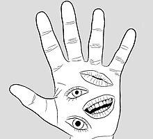 Behelit Hand - White by Centrurian Chatmongkolkasem