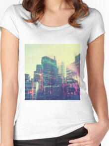 Urban Graffiti Women's Fitted Scoop T-Shirt
