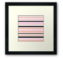 "Retro ""stripes"" collection: peach, pink and black Framed Print"