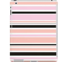 "Retro ""stripes"" collection: peach, pink and black iPad Case/Skin"