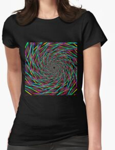 Colorful Funnel Fractal 61716 Womens Fitted T-Shirt