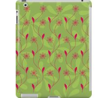 Flowerline – green iPad Case/Skin