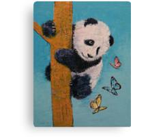 Panda Butterflies Canvas Print