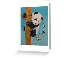 Panda Butterflies Greeting Card