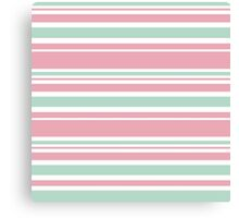 "Retro ""stripes"" collection: peach pink. Latest Fashion.  Canvas Print"