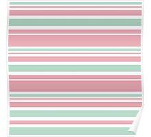"Retro ""stripes"" collection: peach pink. Latest Fashion.  Poster"